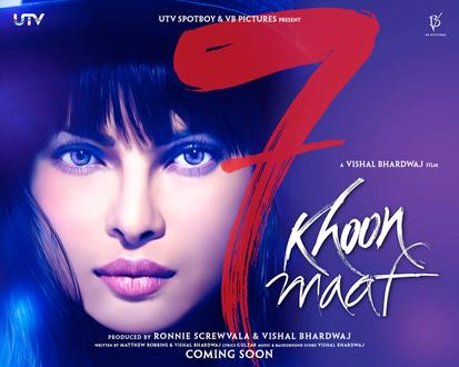 7 Khoon Maaf Movie Poster
