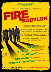 Fire In Babylon Movie Poster